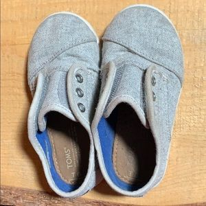 Gentlely Used Toddler Toms (child not included)